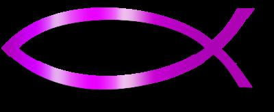 image purple christian fish christian fish clip art christart com rh christart com