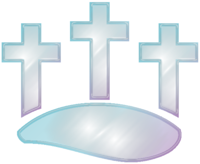 Image: Three Glass Crosses | Cross Image | Christart.com