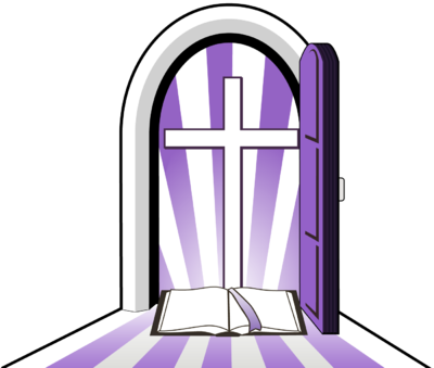 Purple Cross Doorway