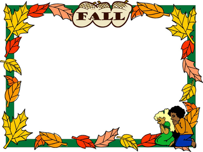 Fall Template Clip Art