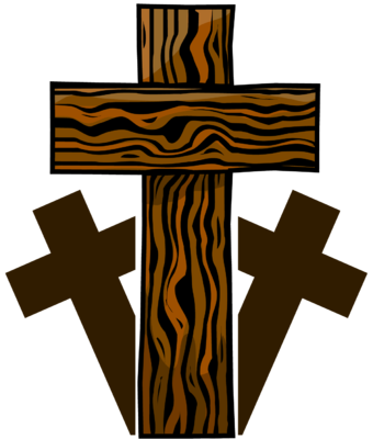 image three wooden crosses cross image christart com rh christart com old wooden cross clipart old wooden cross clipart