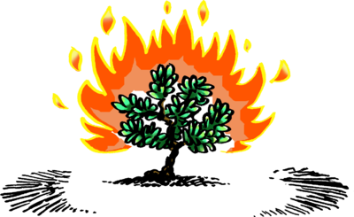 Image: Burning Bush | Exodus Clip Art | Christart.com