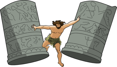 Samson Destroying Temple