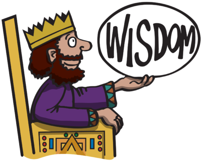 image king solomon sitting   throne  holding   word wisdom solomon clip art