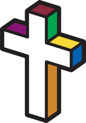 Image: Primary Colored Cross | Cross Image | Christart.com