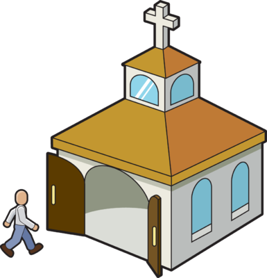Image result for entering church clip art