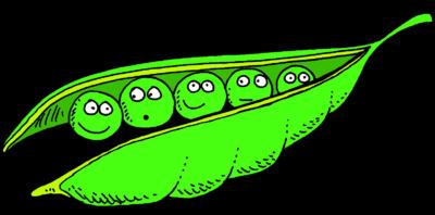 Image download: Peas in Pod   Christart.com