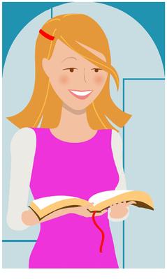 Image: Teenage Girl reading Bible | Bible Clip Art | Christart.com
