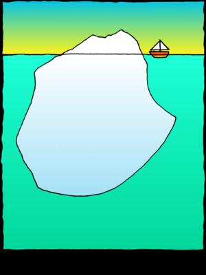 Image download: Iceberg | Christart.com