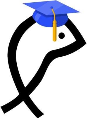 image graduate fish christian fish clip art christart com rh christart com