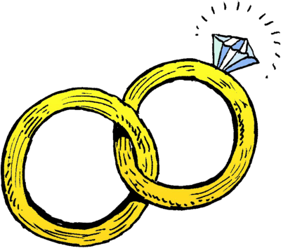 Image Joined Wedding Rings