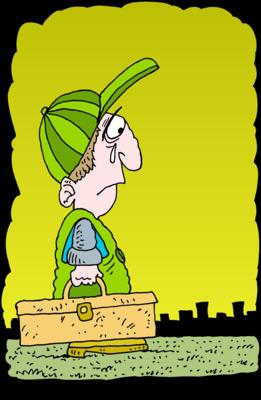Image: Sad Handyman | Christart.com