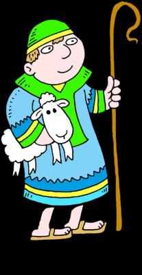Image: Shepherd holding a Sheep - a good shepherd cares ...