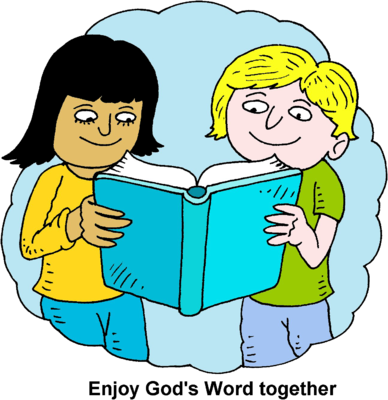 Image: Children Reading Bible Together | Bible Clip Art | Christart ...
