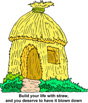 Image: Straw Hut | Christart.com