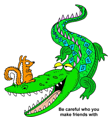 Alligator and Squirrel