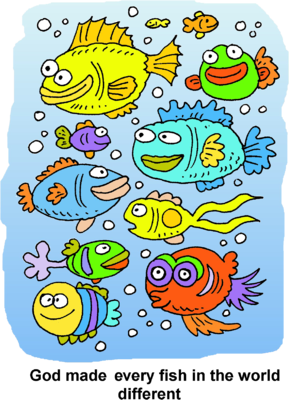 Image: Many Silly fish in the ocean | Christart.com