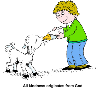 Kindness Originates From God Clip Art