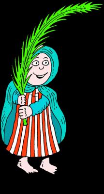 image woman waving palm frond hosanna christart com rh christart com Palm Sunday Coloring Pages Palm Sunday Scripture