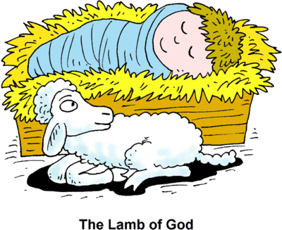 Image: Baby in Manger with Lamb | Christart.com