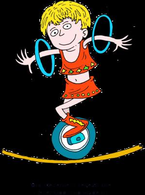 Circus acrobat cartoon - photo#24