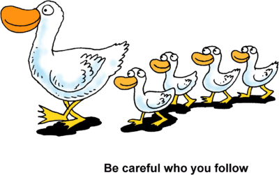 image ducks in a row be careful who you follow Book Binding Clip Art Book Clip Art Black and White