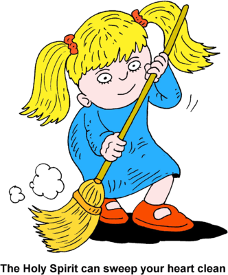 Image: Girl Sweeping - The Holy Spirit can sweep your heart clean ...