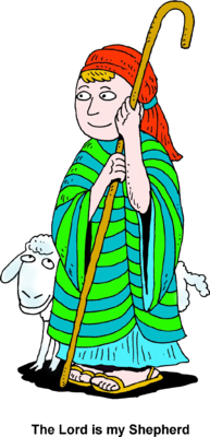 Sheep and Shepherd Clip Art