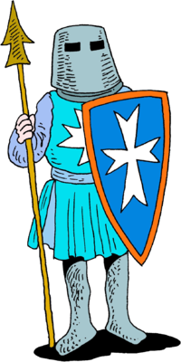 image knight with spear and shield christartcom