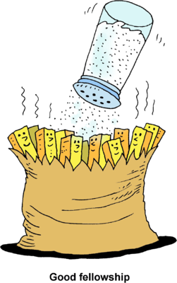 Image: Salting French Fries - Good Fellowship | Christart.com
