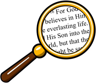 Free Clip Art Search the Scriptures