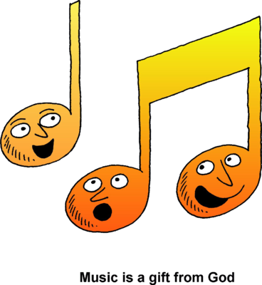 Singing Notes Clipart