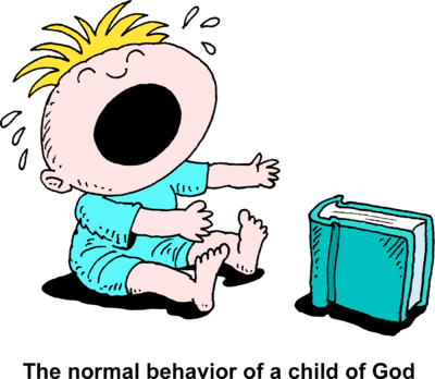 Image: Baby Crying and Reaching for Book Just in Front of ...