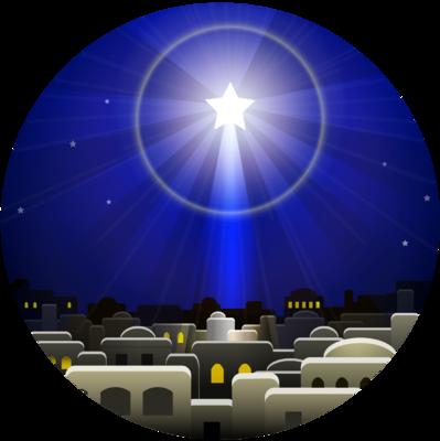 Christmas Star Circle Clip Art