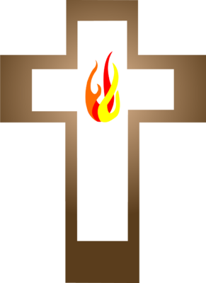 Cross with Flame Inside
