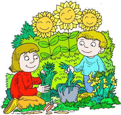 image mother and son in a happy gardening picture christart com rh christart com garden clip art free download garden clip art borders