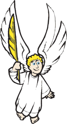 Angel with Quill