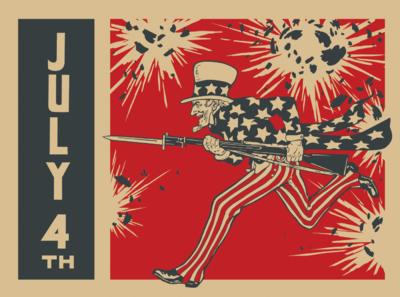 Sams Credit Login >> Image: Uncle Sam on Battle Field   4th of July Clip   Christart.com