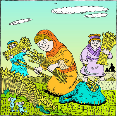 Ruth Gleaning With Workers