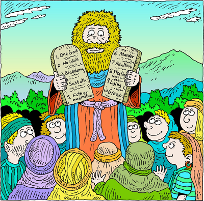 Moses and the 10 Commandments