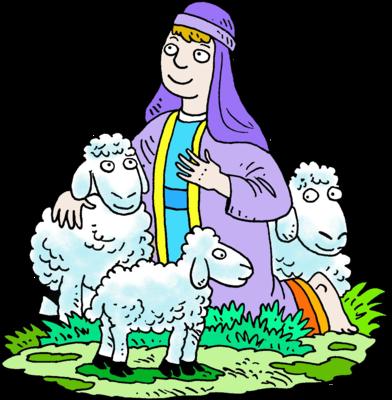 ... in Purple Robe With His Sheep | Shepherd Clip Art | Christart.com