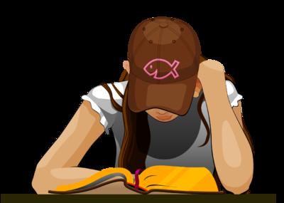 Image: Girl Reading Bible | Bible Clip Art | Christart.com