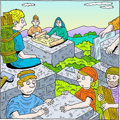 Image: Rebuilding the Wall | Nehemiah Clip Art | Christart.com
