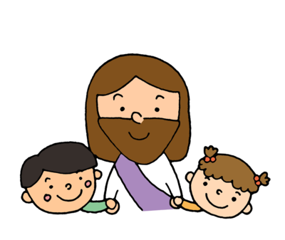 Jesus with two kids