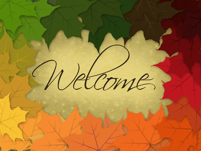 Image: Welcome | PowerPoint Themes - Rainbow Leaves | Christart.com