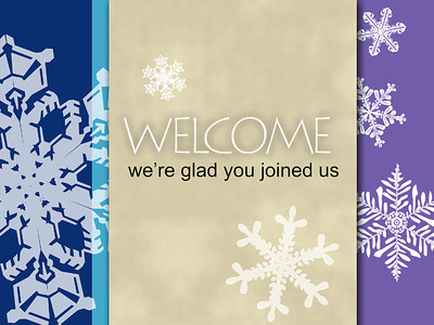 snowflake welcome powerpoint slide