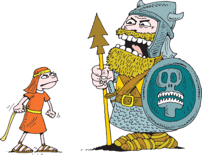 Image: David standing up to Goliath   Christart.com  Goliath Clipart