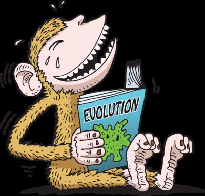 Image: Laughing at Evolution | Christart.com