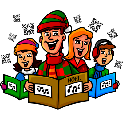 Image: Christmas Carolers   Christart.com