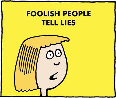 Image download: The Foolish Lie | Christart.com